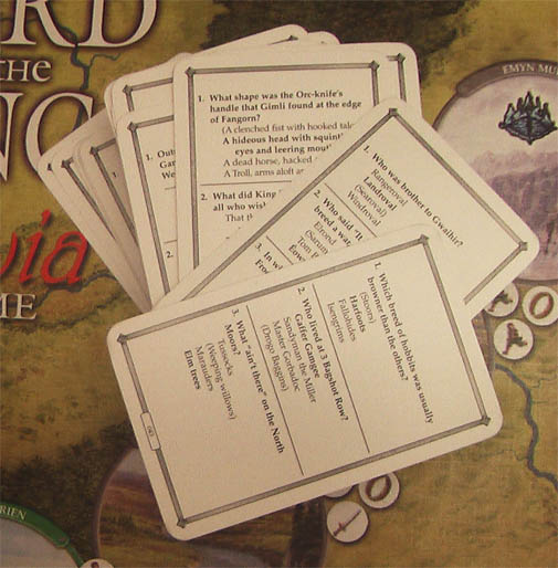 lord of the rings trivia cards