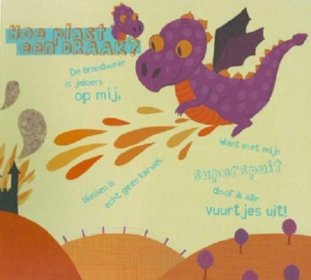dragon pee dutch children's book