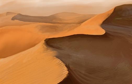 desert of lothland painting