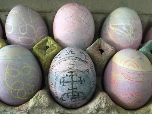 satanic easter egg