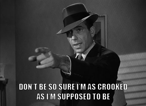Sam Spade crooked