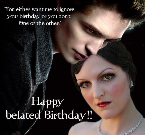 Birthday Card Treasures from Isleys Photobucket Vault What is – Twilight Birthday Card